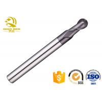CNC Two Flute Carbide Ball End Mill High Strength Accuracy More Than 0.01mm