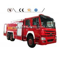 Quality HOWO 6 By 4 Foam Firefighter Truck for sale