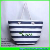 Wholesale LUDA online buy wholesale womens handbag striped paper straw shopping bag from china suppliers