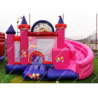 Wholesale Customized Lovely Princess Inflatable Combo Castle With Small Slide from china suppliers