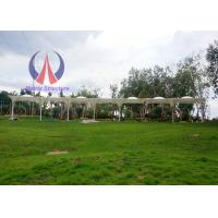 Quality Side Upholder Supported Tensile Membrane Canopy Steel Framework School Project for sale