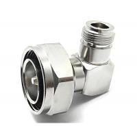 Buy cheap RF coaxial connector 7/16 DIN male to N female right angle adapter from wholesalers
