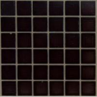 Quality Blue 8mm Square Glass Mosaic Tiles , Washable Glass Bathroom Wall Tile for sale