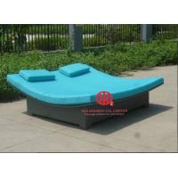 Quality Guangdong rattan furniture factory/garden chaise lounger for sale