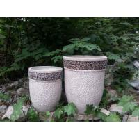 Wholesale 15x15x35cm Contemporary Round Garden Planters For Courtyard / House from china suppliers