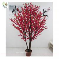 Wholesale UVG CHR069 Decorative Christmas Tree Stands Wedding Cherry Flowers larger bonsai from china suppliers