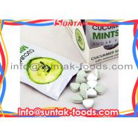 Wholesale Natural Color Fresh Breath Mints , Sugarless Hard Candy Cucumber Flavor from china suppliers