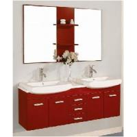 Wholesale Modern Double Sinks Wooden Bathroom Vanity (S60-6002) from china suppliers