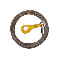 China Steel Core Wire Rope Winch , Steel Winch Cable Self Locking Swivel Hooks on sale