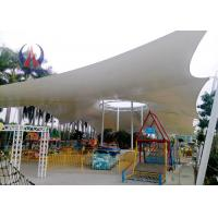 Quality Steelwork Stretching Tensioned Membrane Structures For Playground Sunshade Shed for sale
