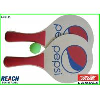 Wholesale Colourful Printing Wooden Beach Rackets For Pepsi Advertisement Promotion from china suppliers