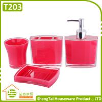 Quality Modern Design Popular Eco-Friendly Plastic Bath Accessory Set With Cheap Price for sale