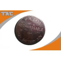 Wholesale Rechargeable Lithium Coin Cell Battery LFR2450 80mAh 3.2V from china suppliers
