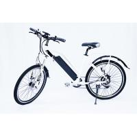 Wholesale White Water Proof  Electric City Bike With Fender,250w 36v, 7 speed , front suspemsion from china suppliers