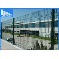 Wholesale Powder Coated 3D Fence Panel Bending For Garden , Triangulate Welded Wire Fence Panels from china suppliers