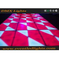 Wholesale Multi Colors DJ LED Lighted Dance Floor Rental , Outdoor LED Starlit Dance Floor from china suppliers