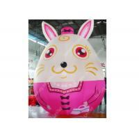 Wholesale Custom Large Inflatable Moving Cartoon Characters Animal Rabbit For Kids from china suppliers