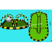 Wholesale 0.6mm PVC Tarpaulin Sealed Inflatable Zorb Track for Kids and Adults Entertainment from china suppliers