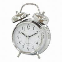 Wholesale 4.5-inch Calssic Metal Twin Bell Alarm Clock with Classic Design from china suppliers