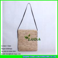 Wholesale LDLF-083 natural raffia straw bag hand crochet shoulder raffia straw handbag from china suppliers