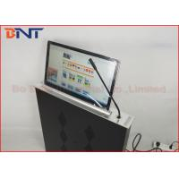 Quality Slim Conference Tabletop LCD / LED Monitor Motorized Lift With Microphone for sale