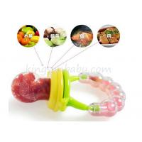 Wholesale Food Grade Rattle Toy Silicone Baby Teether Safety Fresh Fruit / vegestable Feeder from china suppliers