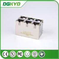 Quality KRJ -5921S2X3YGZENL Power Over Ethernet Rj45 Connector Metal Shielded 2X3 G/Y LEDs for sale