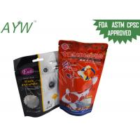Wholesale Stand Up Food Packaging Pouches Clear Window For Fish Feeds / Dental Stick Dog Treats from china suppliers