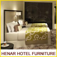 Wholesale Commercial Hotel Furniture Dark Walnut Frame Faux Leather Hotel Bedroom Furniture Set from china suppliers