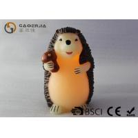 Wholesale Decorative Flameless Candles , Battery Operated Pillar Candles Hedgehog Shaped from china suppliers