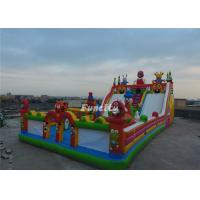 Wholesale Anti - Ruptured Commercial Inflatable Fun City With Slide / Obstacle 2 Years Warranty from china suppliers