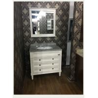 Wholesale Natural Marble Counter Top Bathroom Vanity White Flush Antique Sink Cabinets 100cm / 42 inch from china suppliers