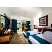 Buy cheap Modern Hotel Resort Bedroom Furniture Sets With Twin Beds / Tables from wholesalers