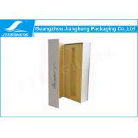 Quality Cardboard Coated Paper Foldable Colorful Wine Bottle Packaging Boxes For Gift for sale