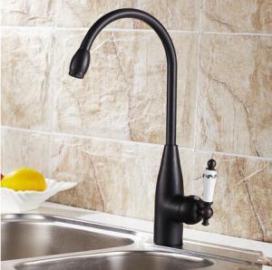 Antique Black Bronze Kitchen Mixer Faucet Rotatable Kitchen Sink Faucet BT1124R