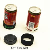 Quality OEM Reusable Round Beer Holder Cooler Hdpe Hard Plastic 6.4cm X 1.5cm for sale