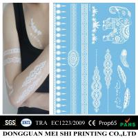 Wholesale Sexy Womens White Ink Henna Temporary Tattoo Stickers Removable Eco Friendly from china suppliers