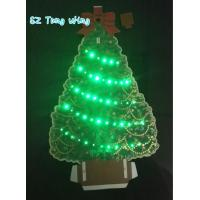 Wholesale Beautiful Christmas Tree Shaped Optic custom music greeting cards from china suppliers