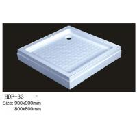 Wholesale Acrylic shower tray, shower basin,acrylic shower base HDP-33 900X900,800X800 from china suppliers