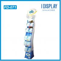 Wholesale display rack for supermarket, corrugated cardboard floor display, cosmetic display racks from china suppliers