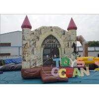 Wholesale Business Huge Funny Kids Inflatable Playground For Rental Jumping Pink Roof from china suppliers