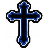 Wholesale Religious & Christian Biker Patches Decorative Cross Patches Embroidered Sew On Iron On from china suppliers