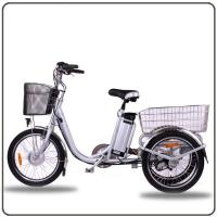 Wholesale CE Approved 36V 250W White Electric Tricycles Lithium Battery 3 Wheel Electric Bike from china suppliers