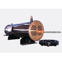 Wholesale 122KW Industrial Shell And Tube Water Cooled Condenser , Refrigerator Condenser Tube from china suppliers