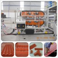 Wholesale Heat insulation PVC plastic spanish roof tile for villa house/plastic tile making machine from china suppliers