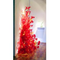 Wholesale Handblown red glass flower floor lamps / Art glass floor lights , DJ-4013 from china suppliers
