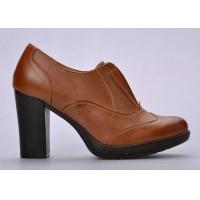 Wholesale Durable Open - Top Womens Booties Shoes Brown For Autumn / Spring from china suppliers