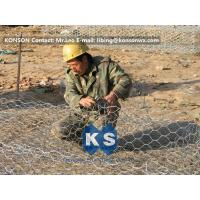 Wholesale Custom Gabion Stone Cages Hexagonal Wire 80 x 100MM For Protection Engineering from china suppliers
