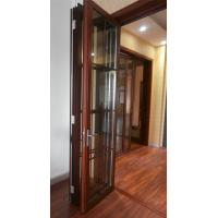 Quality Thermal Break Entrance Aluminum Folding Glass Door Accordion Sliding Closed for sale