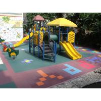 Wholesale Outdoor Kindergarten Flooring , Kids Playground Equipment Flooring Covering from china suppliers